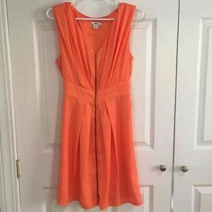 Cute Orange zipper dress